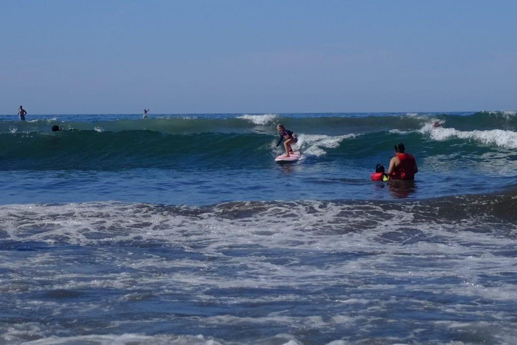 My 7-year-old girl shredding the waves in Sayulita, Mexico.
